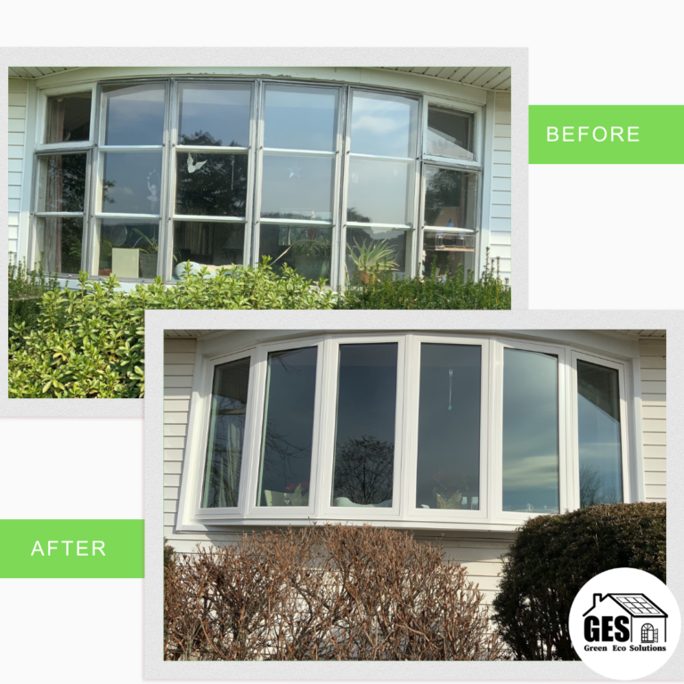 Replacement Windows - Bay Window in Coopersburg - Before & After