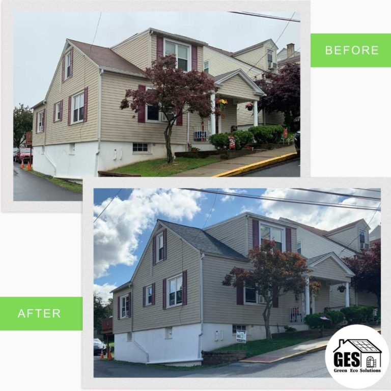 Asphalt Shingle Upgrade before and after by Green Eco Solutions