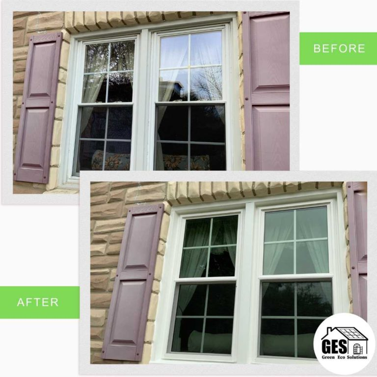 Energy Efficient Window Upgrade before and after from Green Eco Solutions