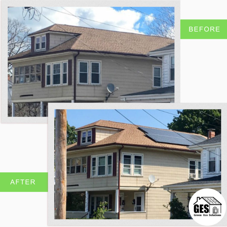 Roof Mounted Solar Panels In Bethlehem (Before and After)