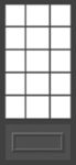 Three Quarter View Security Storm Door Designs by Green Eco Solutions