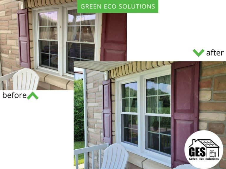 Brenner Before and After Vinyl Window Replacement in Mertztown PA