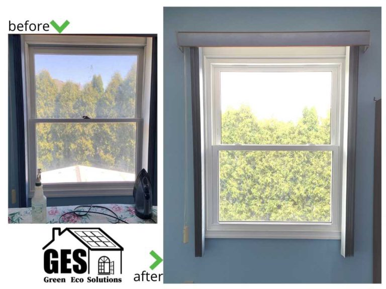 Choudhuri Whitehall Before and After Window and Entry Door Replacement