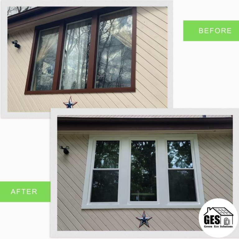 Beauty Shot of Double-Hung and Picture Window Combination