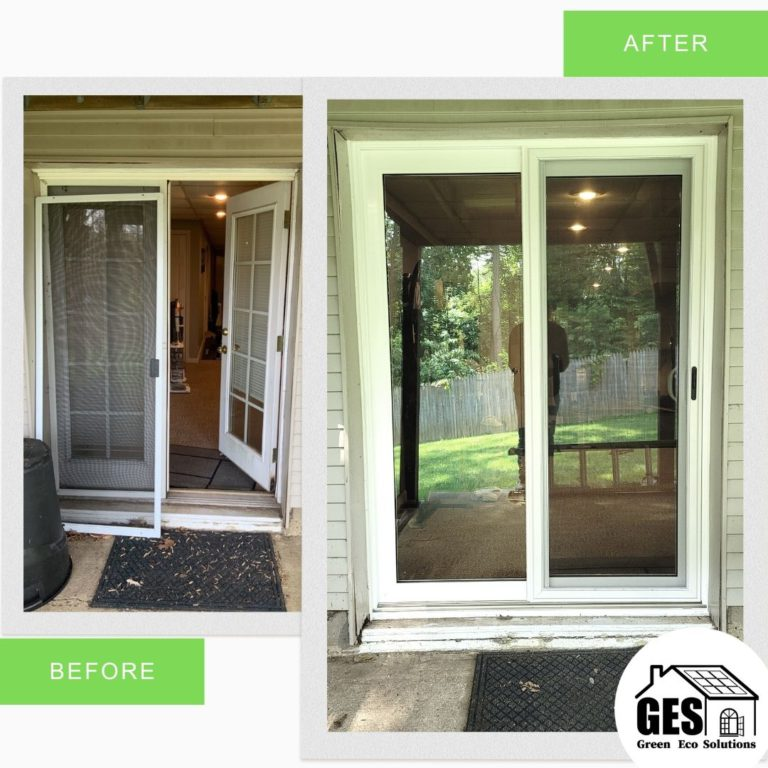Exterior View New Patio Door Replaced in Aston, PA by Green Eco Solutions